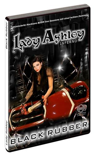 "DVD: ""Lady Ashley Black Rubber"", fetish/latex"