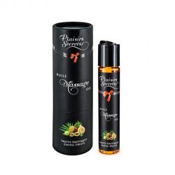 Plaisirs Secrets - Exotic Fruits Oil, massaažiõli värskete puuviljadega, 50ml