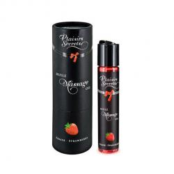 PLAISIRS SECRETS - MASSAGE OIL WILD STRAWBERRY, massaažiõli metsmaasikaga, 50ml