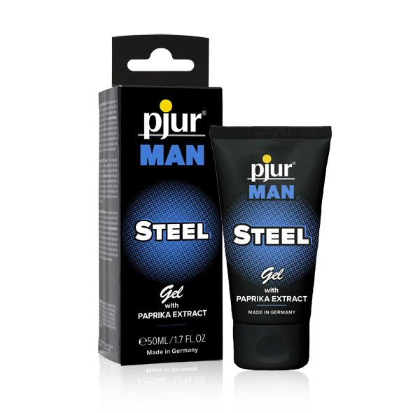PJUR - MAN STEEL GEL, massaažigeel meestele, 50 ML