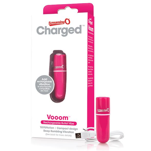 THE SCREAMING O - CHARGED VOOOM BULLET VIBE, USB- vibrakuul, 10 programmi, roosa