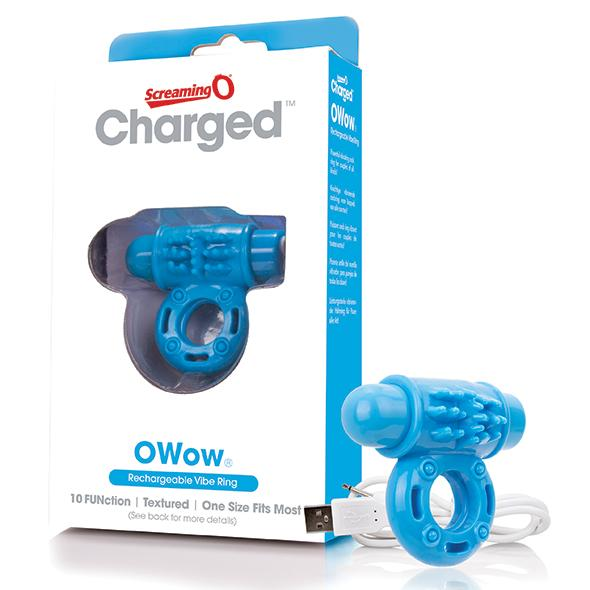 THE SCREAMING O - CHARGED OWOW VIBE RING, USB aku-peeniserõngas, taevasinine