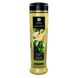 SHUNGA - MASSAGE OIL ORGANICA EXOTIC GREEN TEA, orgaaniline massaažiõli rohelise teega, 240ml