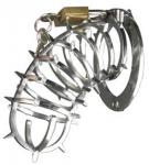 Metallist rõngastega ja piikidega peeniselukk 13cm